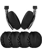 """Geekria 2 paar Flex stoffen koptelefoon oorkussens/rekbare en wasbare hygiënische oorschelpbeschermers. Past op 3""""-4"""" oorkussens voor over het oor/geschikt voor gym, training (zwart)"""