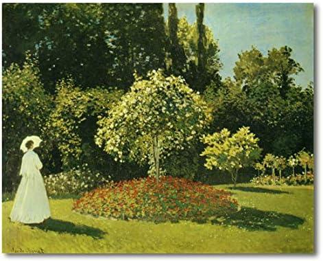 Cuadro Decoratt: Señorita en el jardin (Sainte Adresse) - Claude Monet 77x62cm. Cuadro de impresión directa.: Amazon.es: Hogar