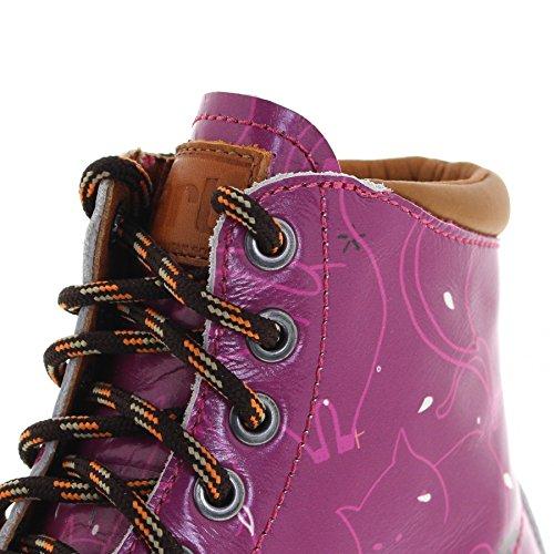 Fb Mode Støvler Kunst 1187f Marina Neko Læderstøvler Til Kvinder Lyserød Snøret Neko TIz8Oj