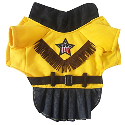 (Woo Woo Pets Fall and Winter Dog Clothes West Cowgirl Dress Pet Costumes)