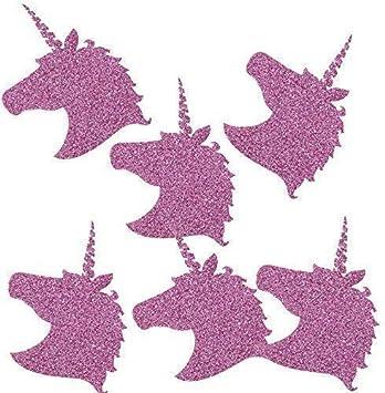 6x4.5 cm DIY TE-DecoArt 12 Textil Patch Aufb/ügler Aufb/ügelflicken Applikation Einhorn lila Glitter zum Selber Flicken Stylen Dekorieren ca