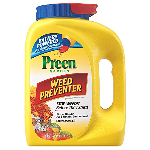 Preen Garden Weed Preventer with Power Spreader Cap – 6.25 lb. Covers 1000 sq. ft.