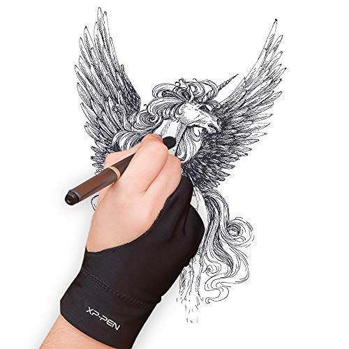 XP-Pen Professional Artist Lycra Glove for Graphics Drawing Tablet Graphic Monitor Suitable for Right Hand and Left Hand((S/M/L,Black) (S)