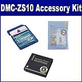 Panasonic Lumix DMC-ZS10 Digital Camera Accessory Kit includes: SDDMWBCG10 Battery, KSD2GB Memory Card, ZELCKSG Care & Cleaning