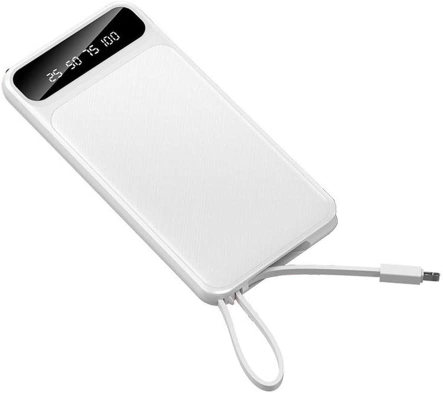 Seven Fairies Chargers for Electric Batteries 3 in 1 Dual USB Power Bank 20000mah Large Capacity Portable Power Bank for iPhone Samsung Galaxy LG Google Android-White