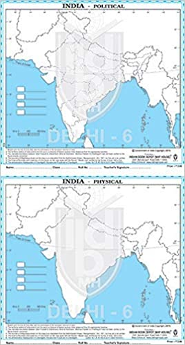 outline physical map of india Buy Set Of Practice Outline Map Of India Political 50 Maps And outline physical map of india
