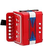 Classic Cantabile Bambino acordeon para niños, rojo, 2 bajos