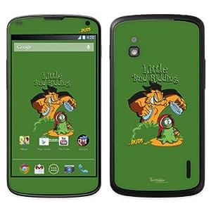 Diabloskinz B0090-0066-0061 Little Bud Ridding - Skin de vinilo para LG Google Nexus 4, color verde