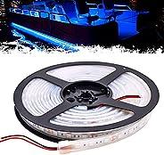 PSEQT Boat LED Lights Strip, 16.4FT/5m Marine Interior Courtesy Deck Navigation Lights Blue Waterproof with Ad