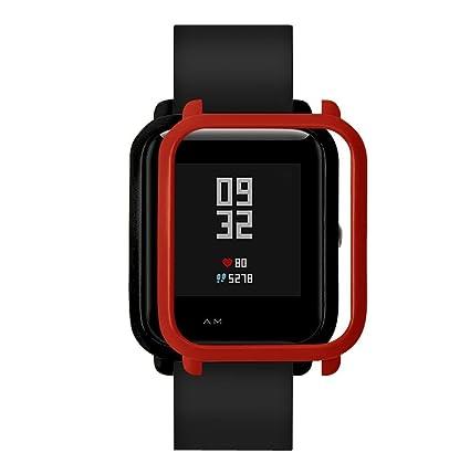 Amlaiworld Protector Correas de Reloj compatibles con xiaomi huami amazfit bip Youth,Funda de Protección smartwatch Reloj Fundas Protector de Carcasa