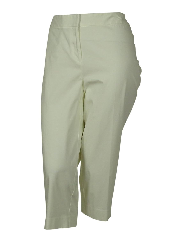 INC International Concepts Women's Stretch Dress Capri Pants (16W, White)