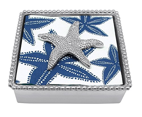 Mariposa 2785 C Starfish Beaded Napkin