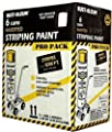 Rust-Oleum 18-Ounce Spray Paint Striping Paint Contractor, 6 Pack