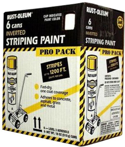- Rust-Oleum P2593849 18-Ounce Spray Paint Striping Paint Contractor, White, 6 Pack