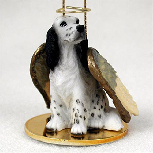 Ky & Co YesKela English Setter Dog Figurine Angel Statue Ornament Blue - Dog Setter English Figurine