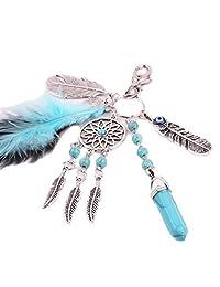 Keychains, Doinshop Boho Dreamcatcher Feather Key Chain Bag Key Ring Car Key Pendant