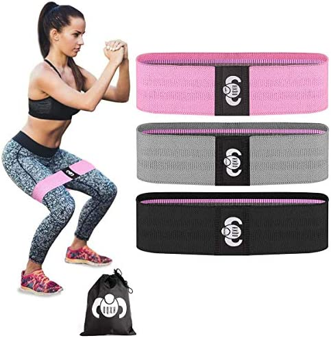 Resistance Bands for Legs and Butt Exercise Bands Fabric Resistant Bands Set Leg Resistance Bands for Working Out Women Squat/Hip Bands Thick and Wide Non-Slip Elastic Band 3 Set for Hip Training