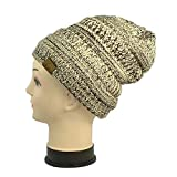 Bright Sun Khaki 12 Pcs Lot Men's Women's Knitted Slouchy Baggy Beanie Winter Hat Ski Cap w/Fur Lining #CPAS