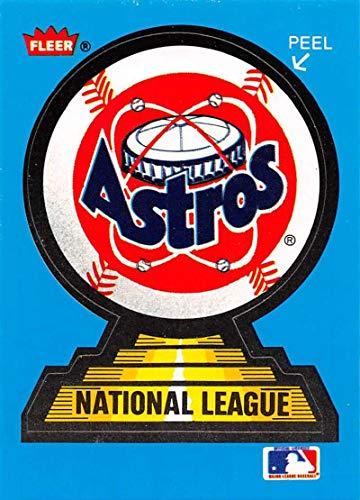 1987 Fleer Team Stickers Baseball Card #NNO Houston Astros Houston Astros Official MLB Trading Card