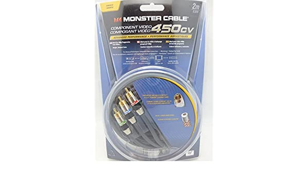 Amazon.com: Monster Cable 450CV 2 meter Component Video Cable Model MC 450CV-2M: Home Audio & Theater