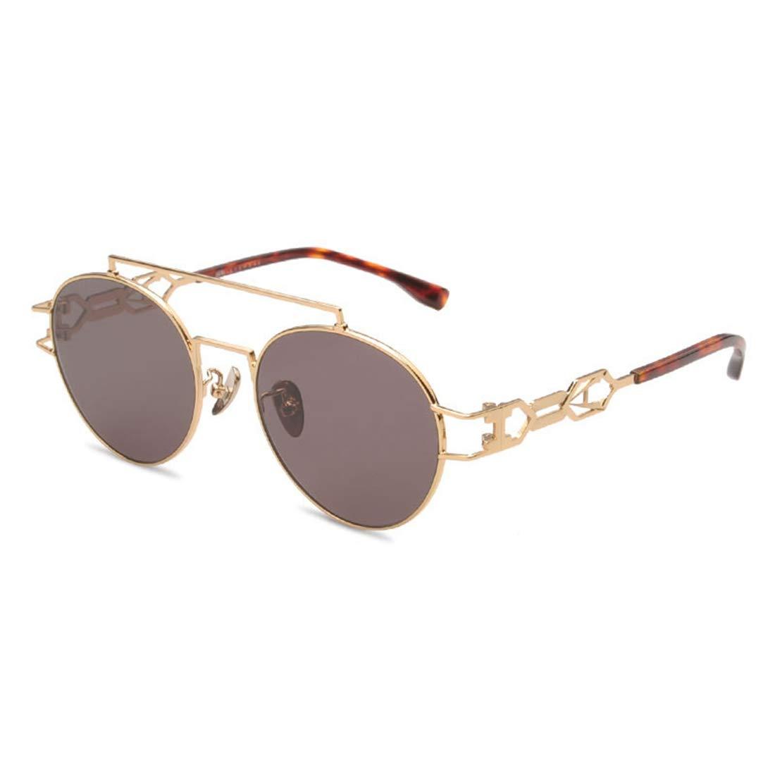 サングラス ユニークな女性用メタルサングラス偏光レンズUVプロテクションビーチバケーションアウトドアサングラス。, ファッションサングラス  ゴールド B07S4MHNG9