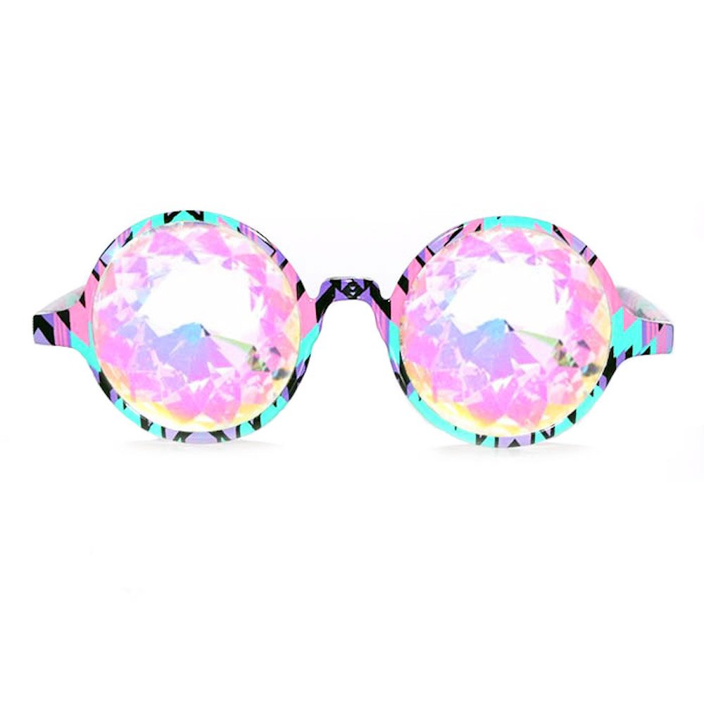 GloFX Aztec Kaleidoscope Glasses – Rainbow - Rave Rainbow EDM Diffraction by GloFX (Image #1)