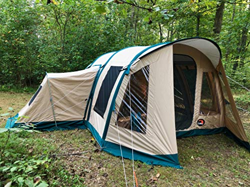 Wildcat Outdoor Gear Premium Inflatable Family Camping Tent | 100% Waterproof | Sleeps 4-10+ | Loaded with Features | Sets Up in Minutes | Lynx 640