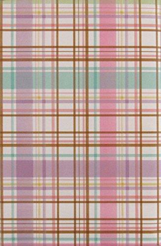 "Springtime Plaid Vinyl Flannel Back Tablecloth (60"" Round)"
