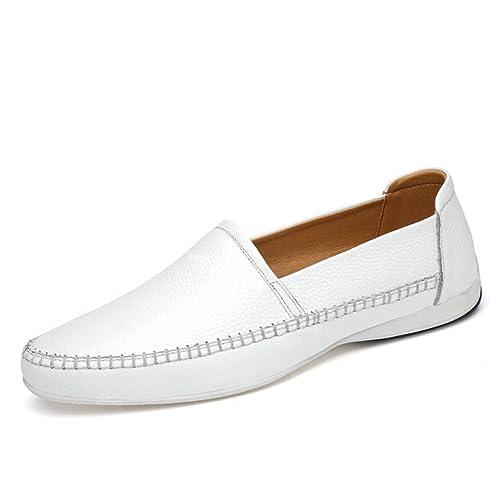 ailishabroy Mocasines de Piel para Hombre Zapatos de Conducción Casual: Amazon.es: Zapatos y complementos