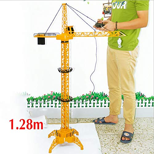 - TTGE Remote Control Electric Mega Crane 128 cm High Simulation Full Functional Tower Crane Kids Toys,Yellow