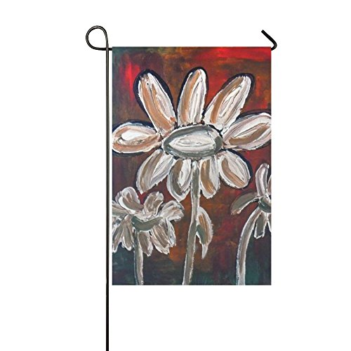 Home Decorative Outdoor Double Sided Painted Daisies Acrylic