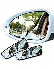 Espejos de punto ciego,Aspiree 2pcs Espejo Retrovisor Ajustable Espejo De Cristal Convexo De HD Para el Coche SUV Universal,ancho, 360°,giratorio,ajustable,convexo,duradero,espejo lateral,punto ciego