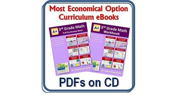 Amazon com: 3rd, Third Grade Math Curriculum Bundle