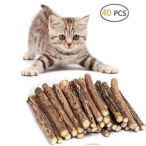 Umiwe Catnip Matatabi,40 Palitos De Hierba Gatera De Matatabi para Gatos Natural Cuidado Dental