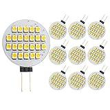 GRV G4 24-3528 SMD LED Bulb lamp Super Bright Warm White AC12V DC12V -24V Pack of 10