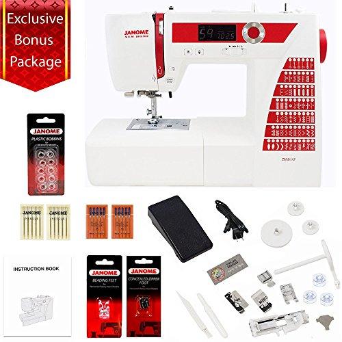 Janome DC2015 Computerized Sewing Machine w/ 7-Piece Bonu...