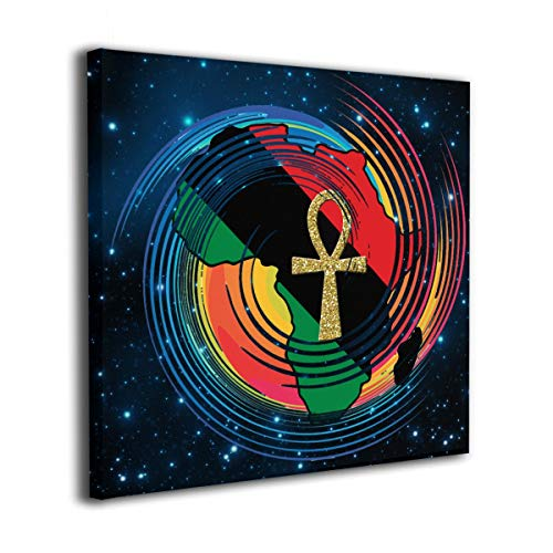 MoulMa Canvas Cool Ankh African Colored Africa Photo Paintings Wall Art Prints Modern Home Decoration Giclee Artwork-Wood Frame Gallery Wrapped