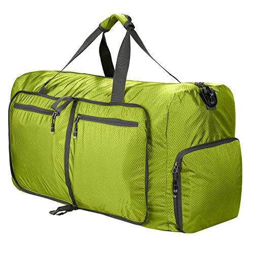Foldable Duffle Bag,Super Lightweight Waterproof Travel Large Duffel Bag,Duffle Bag for Camping(Light Green)