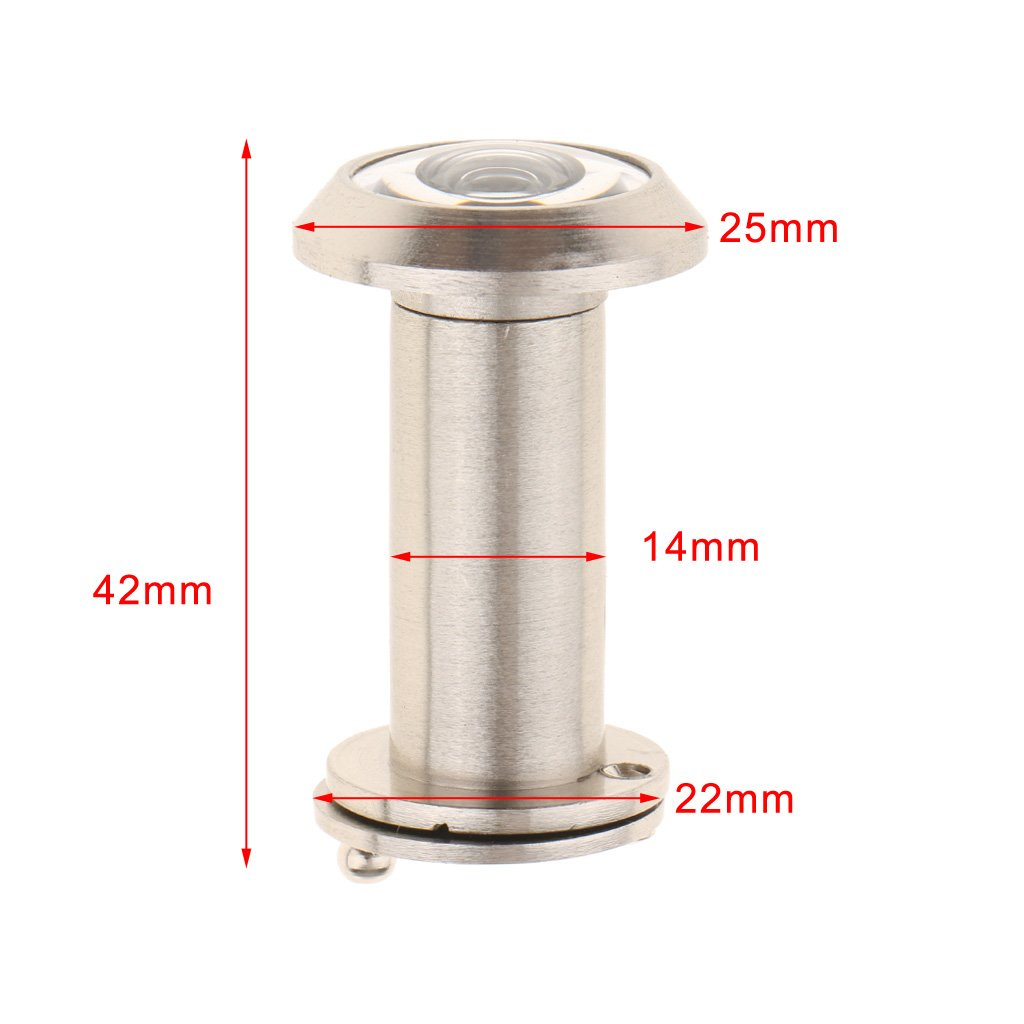 as described Dolity Door Viewer Peephole 220 Degree Viewing With Cover Home Security for 35mm-60mm thickness door 14mm 5#