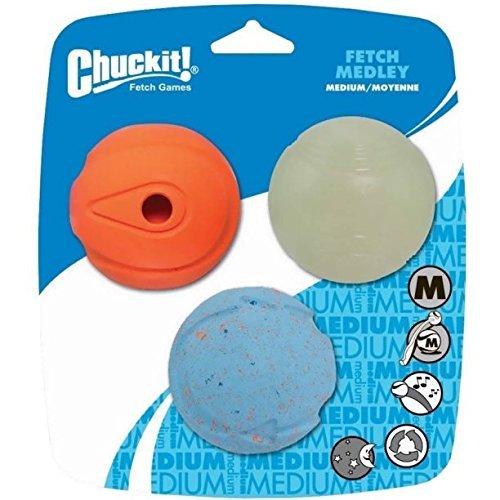 Chuckit! Fetch Medley Ball - Medium 3 Pack (Fetch Medley Balls)