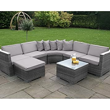 san diego rattan garden furniture barcelona grey corner group sofa rh amazon co uk barcelona outdoor bistro furniture set barcelona outdoor bistro furniture set