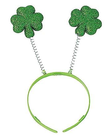 Haarreif Mit Kleeblatt Als Glücksbringer Für St Patricks Day