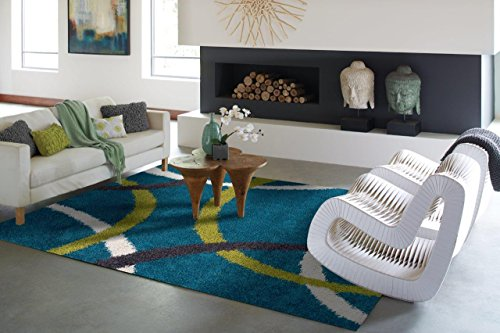 Modern Turquoise Blue Cozy Shag Rugs Luxury Shaggy Rug 5x7 For Living Room Shag Rug For Bedrooms 5x8 Shag Area Rugs Prime