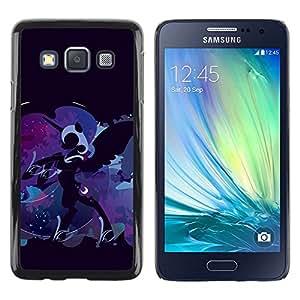 TECHCASE**Cubierta de la caja de protección la piel dura para el ** Samsung Galaxy A3 SM-A300 ** Pony Unicorn Blue Fairytale Art Drawing