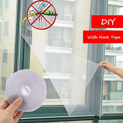 Insect Window Net, LtrottedJ Insect Fly Mosquito Window Net Netting Mesh Screen Sticky Tape Mosquito Screen (White)