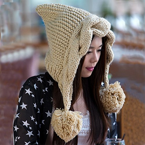 de Maozi BEIGE Corea Sombreros Coreana torcedura Sombrero Invierno Mano Punto otoño Estrellas señora Versión para Beige CtqtwrxHB