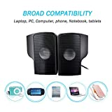 ELENKER Portable Clip-On USB Powered Speaker Stereo Speakers Multimedia Soundbar, Mini USB Speakers for Laptop Notebook Computer PC Phone Tablets