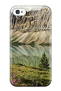 For Iphone Case, High Quality Mirror Mountain Photography R People Photography For Iphone 4/4s Cover Cases