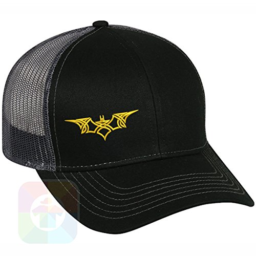 Custom Tshirts and Hats Batman Yellow Tribal Structured Snapback Baseball Mesh Hat Cap #1007 -