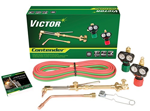 System 510 (Victor Technologies 0384-2050 Contender Heavy Duty Cutting System, Acetylene Gas Service, ESS3-15-510 Fuel Gas Regulator)